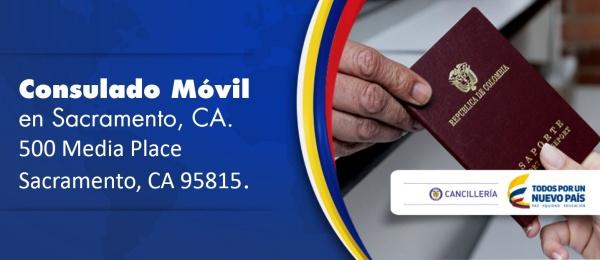 Consulado de Colombia en San Francisco, Sábado 9 de mayo: Consulado Móvil en Sacramento