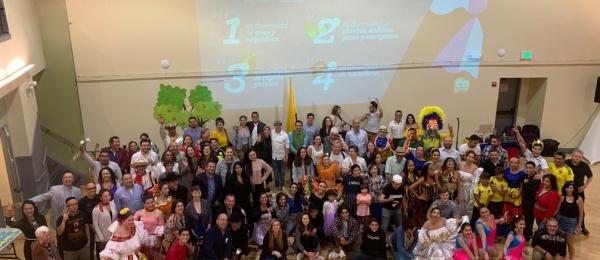 Consulado de Colombia en San Francisco conmemoró el Bicentenario de la Independencia Nacional y rindió homenaje a las víctimas del conflicto