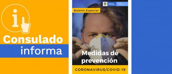 Debido a la pandemia declarada de COVID-19, el Consulado de Colombia en San Francisco solo atenderá con cita previa entre el 16 y el 31 de marzo de 2020